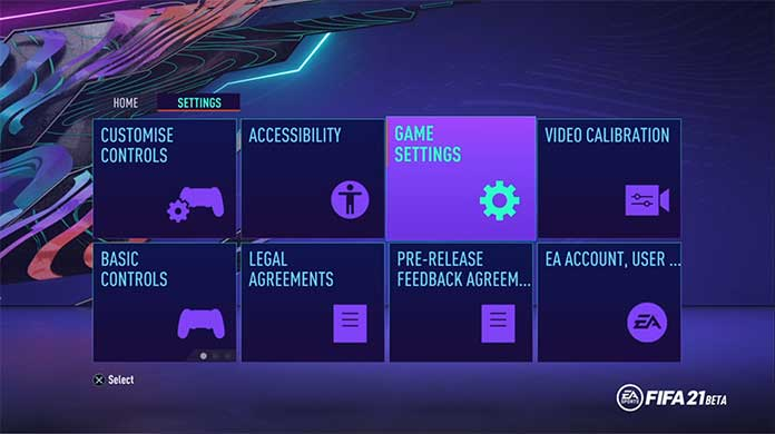 FIFA 21 Game Settings Guide