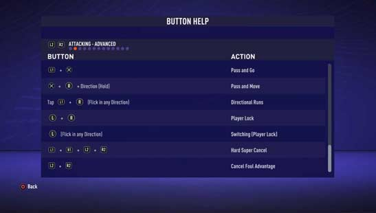 FIFA 21 Controls
