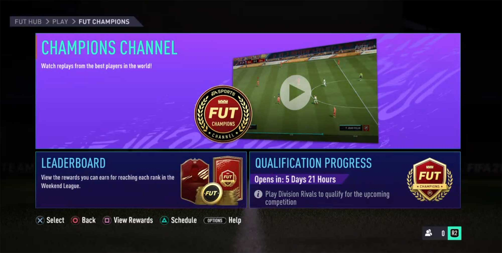FUT Champions Channel Guide for FIFA 21