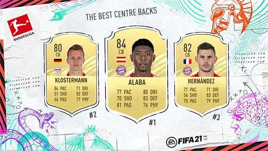Os Melhores Defesas Centrais da Bundesliga em FIFA 21