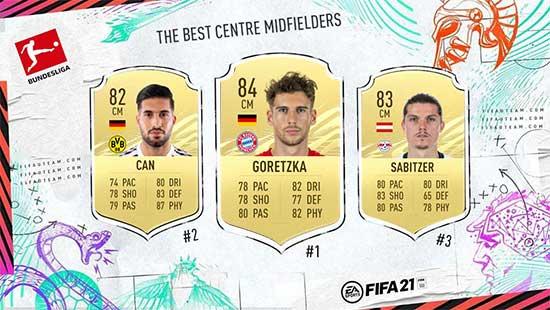 The Best FIFA 21 Bundesliga Midfielders