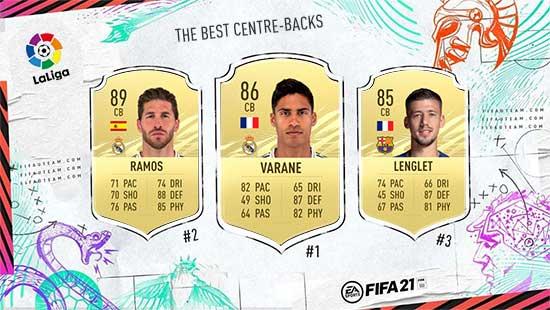 Os Melhores Defesas Centrais da LaLiga em FIFA 21
