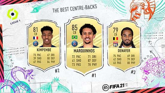 Os Melhores Defesas Centrais da Ligue 1 em FIFA 21