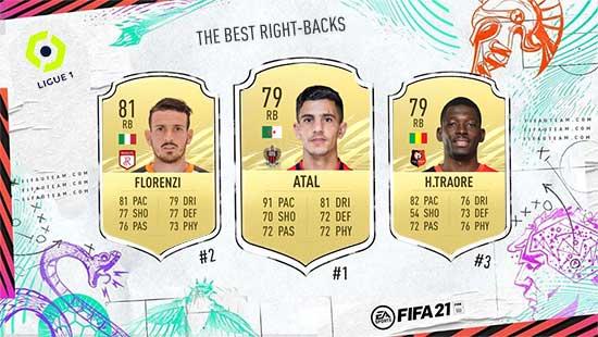Os Melhores Laterais Direitos da Ligue 1 em FIFA 21