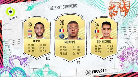 Os Melhores Avançados da Ligue 1 em FIFA 21