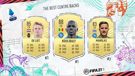 Os Melhores Defesas Centrais da Serie A em FIFA 21