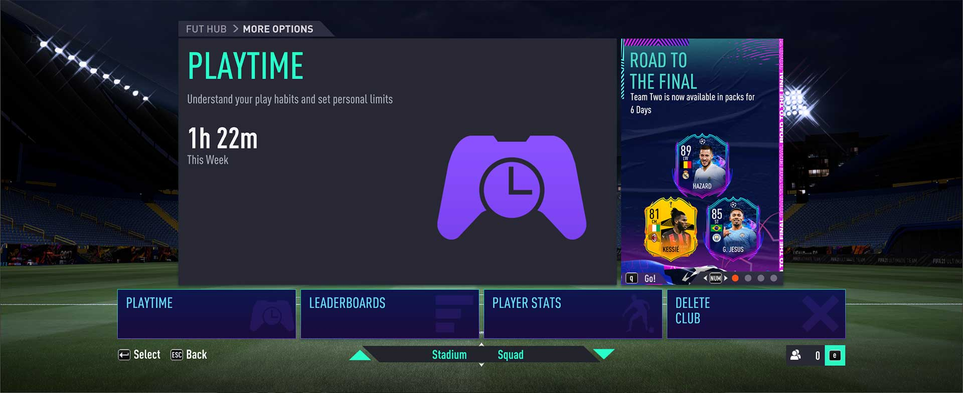 FIFA 21 Playtime Feature