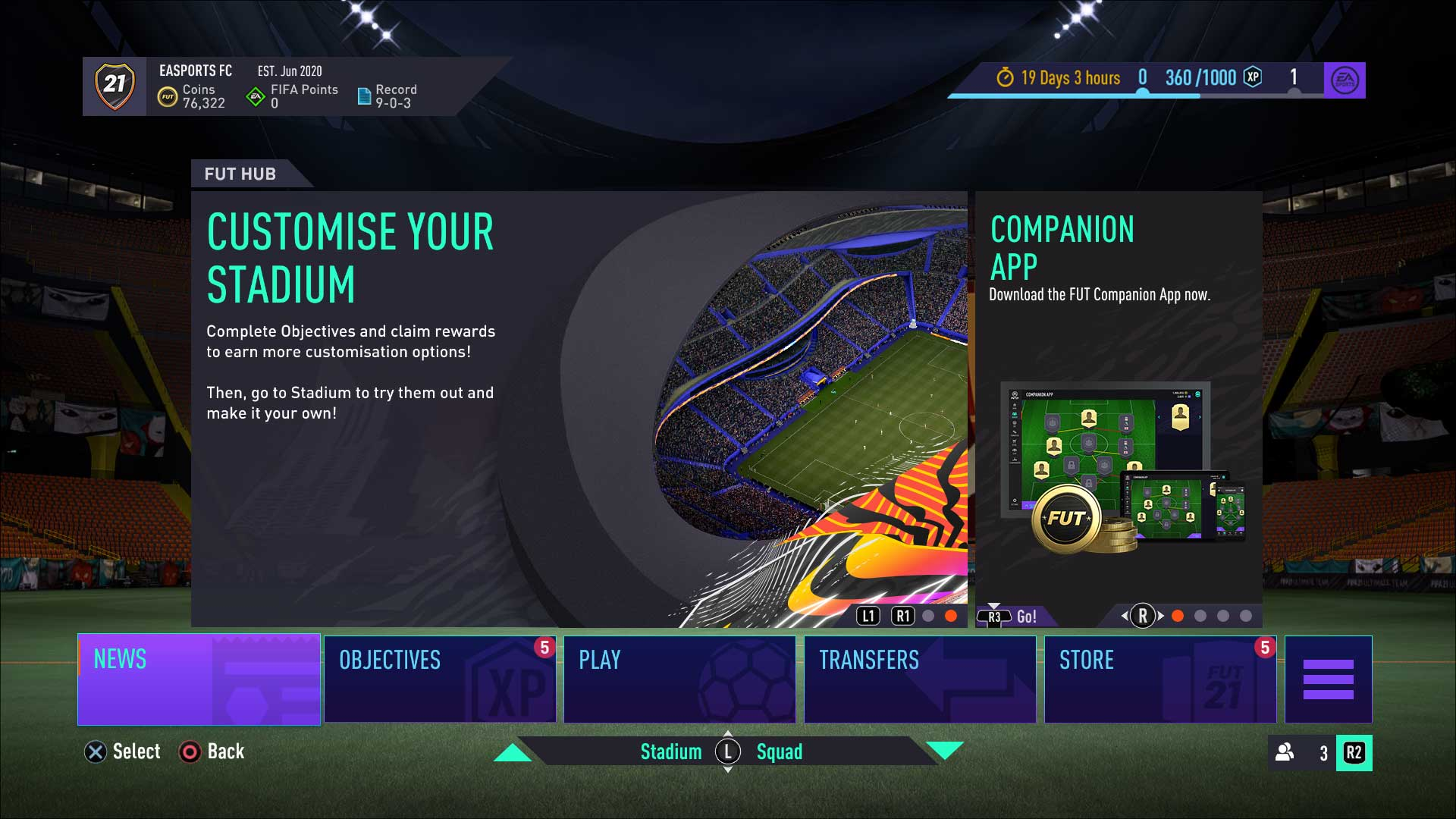 mejoras en FUT FIFA 21 jugar
