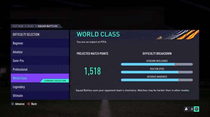 FIFA 21 Squad Battles Points