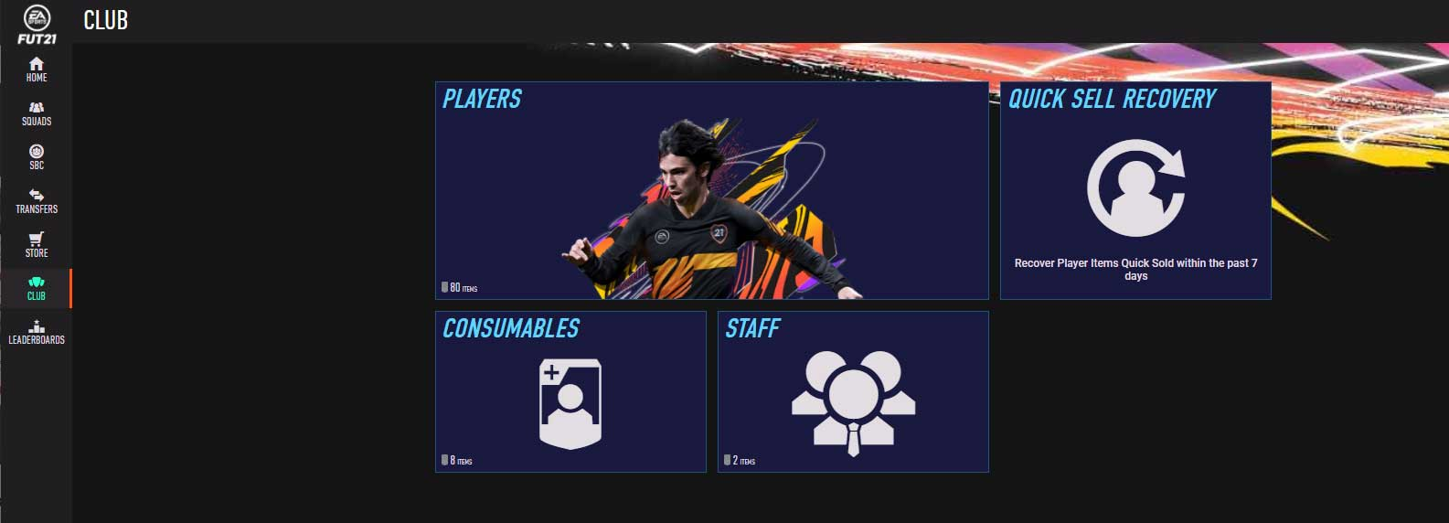 FIFA 21 Web App