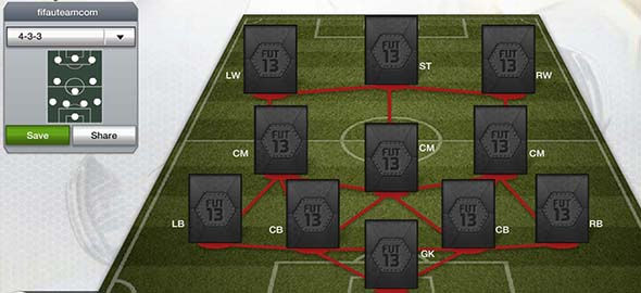 FIFA 13 Ultimate Team Formations - 4-3-3