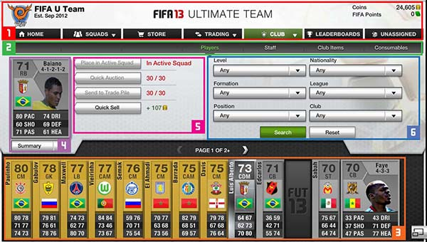 FUT 13 Web App - Players Cards