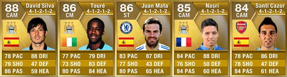 FIFA 13 Ultimate Team - Barclays PL Center Midfielders