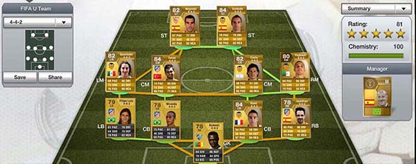 FIFA 13 Ultimate Team Liga BBVA Gold Squad