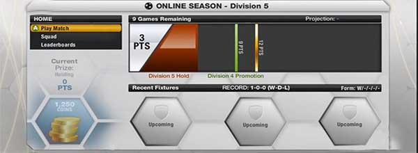 FUT 13 Coins by Playing Seasons and Tournaments