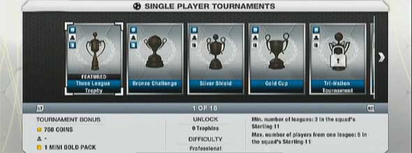 FIFA 13 Ultimate Team Tournaments Prizes