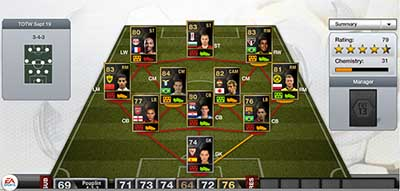 FIFA 13 Ultimate Team - Team of the Week 1 (TOTW 1)