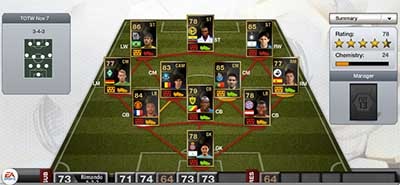 FIFA 13 Ultimate Team - Team of the Week 8 (TOTW 8)
