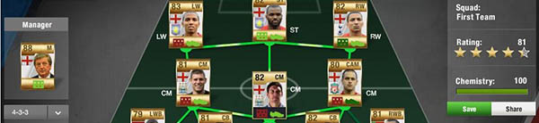 FUT 13 WishList - Squad Menu