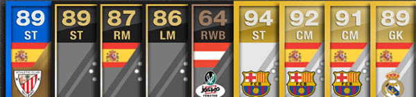 FUT 13 WishList - Ratings