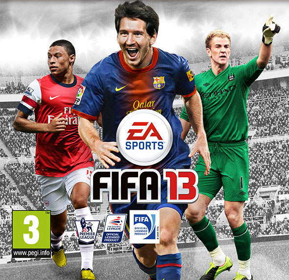International FIFA 13 Covers - Who accompanies Lionel Messi ?