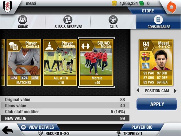 FIFA 13 Ultimate Team iOS - Screenshot 2