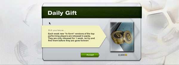 FUT 13 Daily Gift