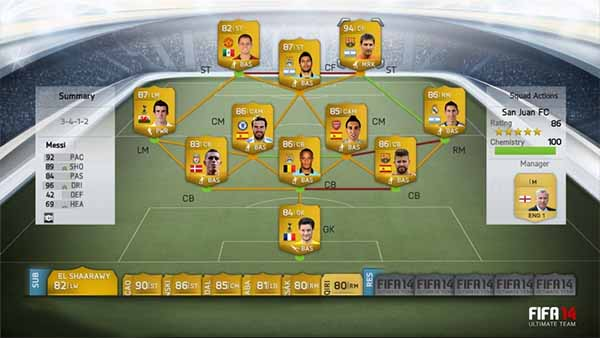 First FIFA 14 Ultimate Team screens