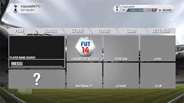 Os Primeiros Screenshots de FIFA 14 Ultimate Team