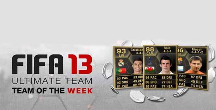 Totw Of Fifa 13 Ultimate Team All The Fut 13 Team Of The Week