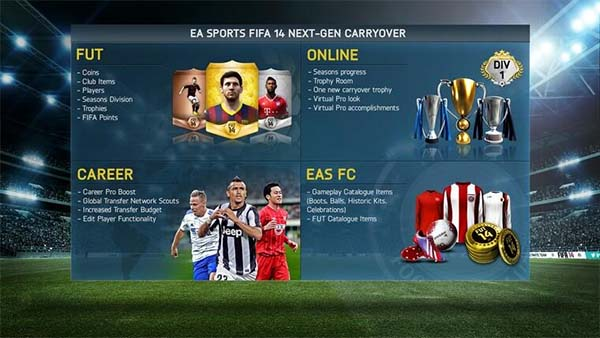 FIFA 14 Ultimate Team Passará para as Novas Consolas