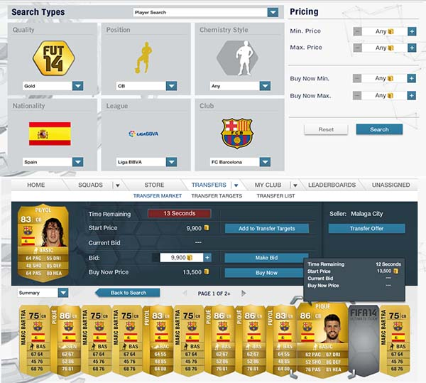 FIFA 14 Ultimate Team - Trading
