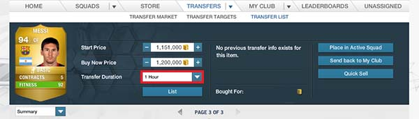 FIFA 14 Ultimate Team Trading