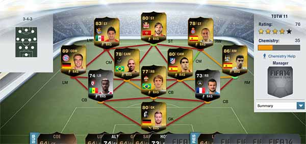 Equipa da Semana 11 - Todas as TOTW de FIFA 14 Ultimate Team