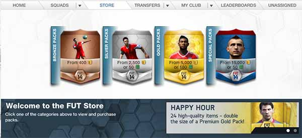 Packs, Store and Happy Hour Guide for FIFA 14 Ultimate Team