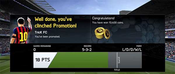 FIFA 14 Ultimate Team Seasons Rewards - Prizes and Points