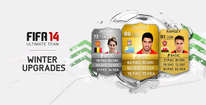 Complete List of the FIFA 14 Ultimate Team Upgraded Players Cards