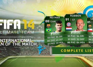 FUT 14 iMOTM and FUT WC Upgraded Cards List