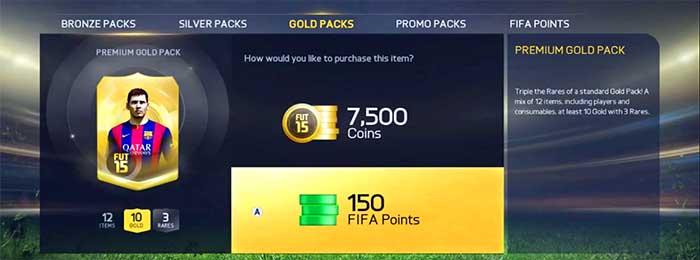 Guía de FIFA Points en FIFA 15 Ultimate Team