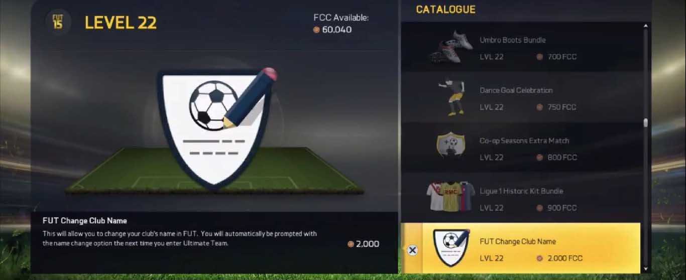 EAS FC Catalogue Guide for FIFA 15 Ultimate Team