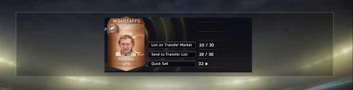 Valores de Descarte de Cartas de FIFA 15 Ultimate Team: Jogadores, Staff, Consumíveis e Itens de Clube