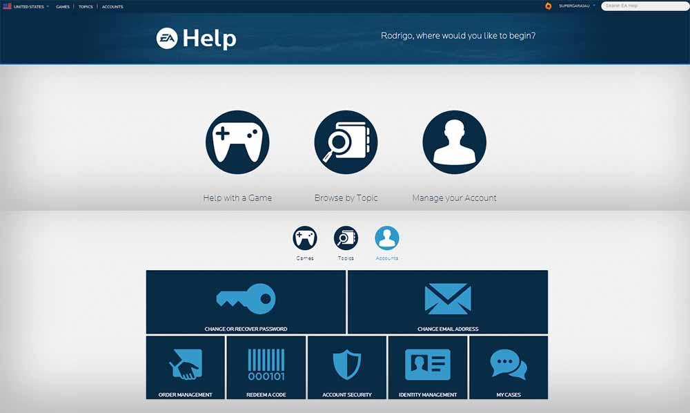 EA Sports FIFA 16 Support Contact