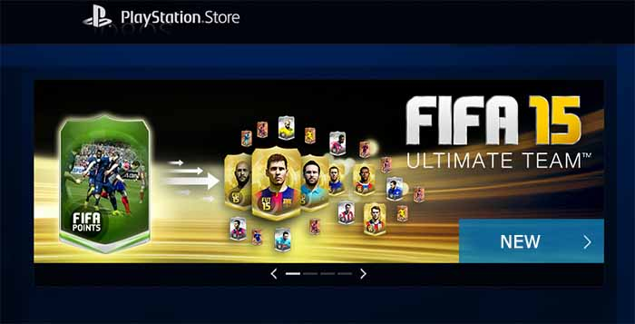 FIFA Points Available for Sale in Playstation Store