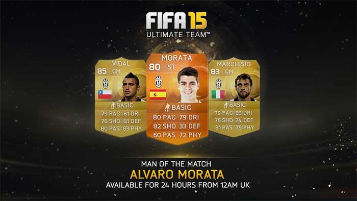 Todas as Cartas Man of the Match (MOTM) de FIFA 15