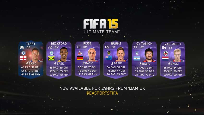 Heroes In-Form Cards of FIFA 15 Ultimate Team - May 12