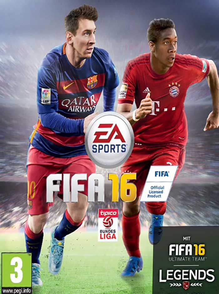 David Alaba joins Messi on the FIFA 16 cover of Austria