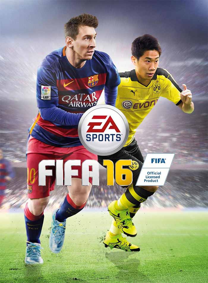 Shinji Kagawa joins Messi on the Japanese FIFA 16 cover