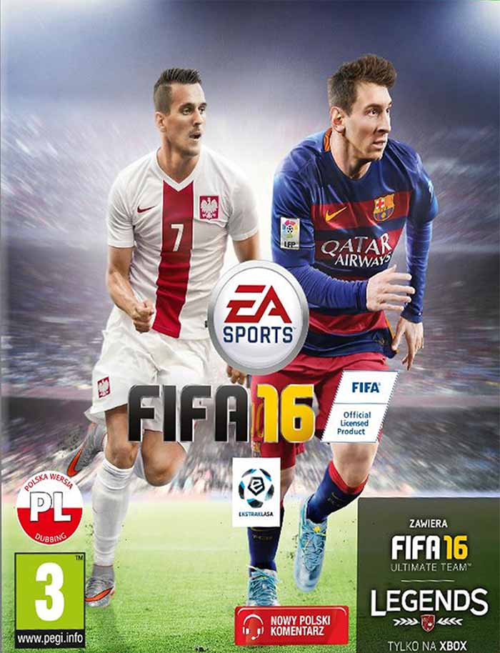 Arek Milik joins Messi on the FIFA 16 cover of Poland