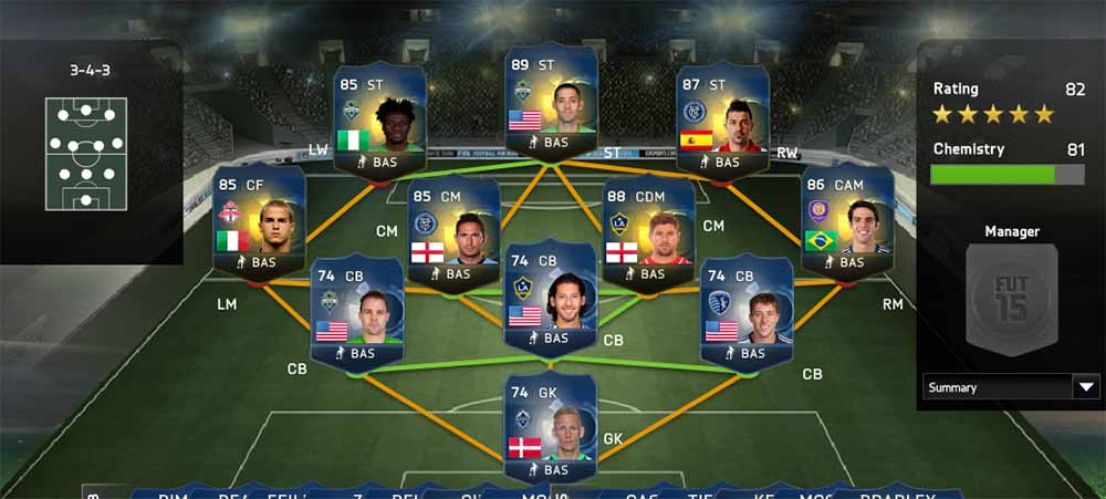 FIFA 15 Ultimate Team MLS TOTS