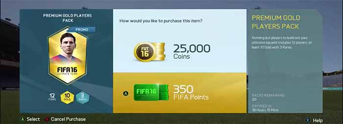 Guía de FIFA Points en FIFA 16 Ultimate Team